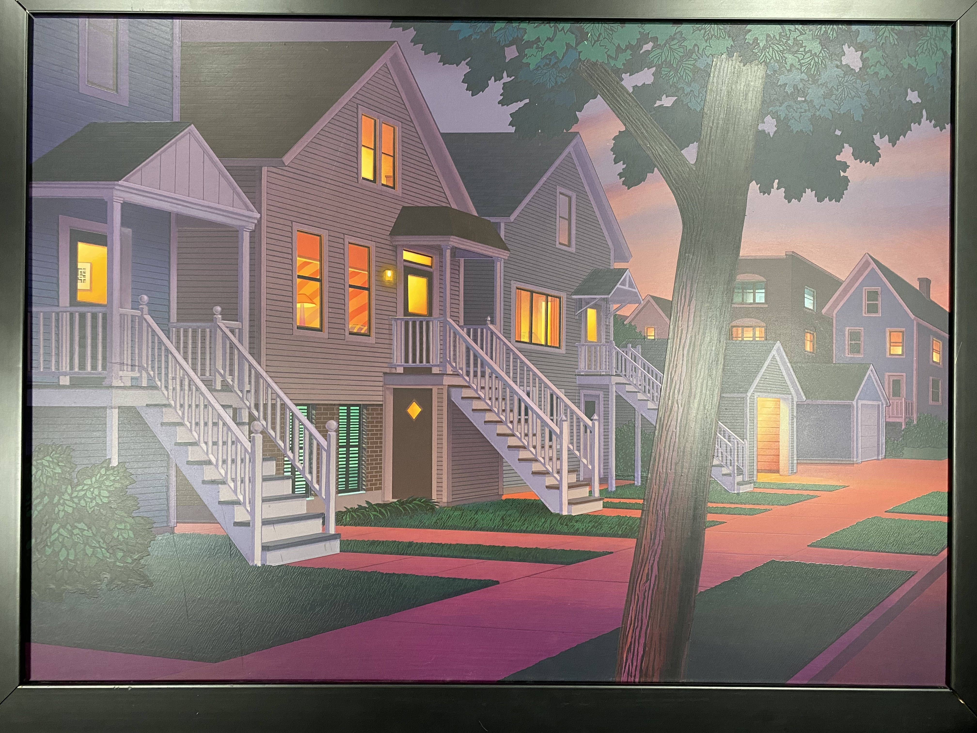 Front Stairs artwork by Kathleen Eaton Eaton Studios - art listed for sale on Artplode