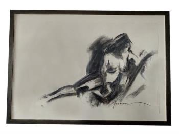 Nude artwork by Francine Turk - art listed for sale on Artplode