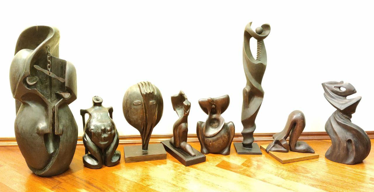 Ensemble of sculpture Seven sins artwork by Nikolay Pogorelov - art listed for sale on Artplode