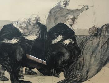 La Guilde Des Chirurgiens, art for sale online by Claude Wiesbuch