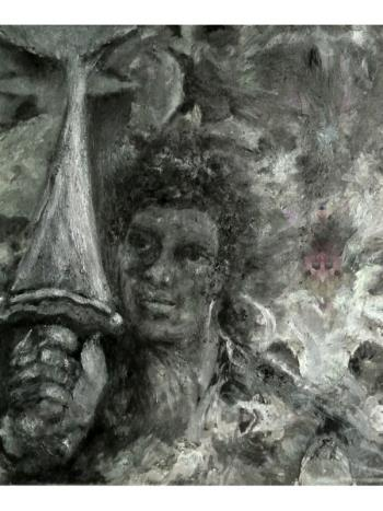 Warrior V Sword, art for sale online by Barbara E Barry