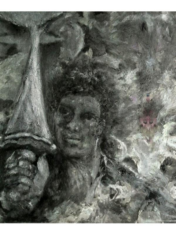 Warrior V Sword artwork by Barbara E Barry - art listed for sale on Artplode