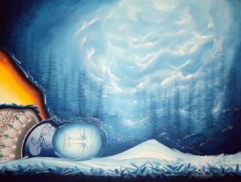 Ice Wall, art for sale online by James MISHIBINIJIMA
