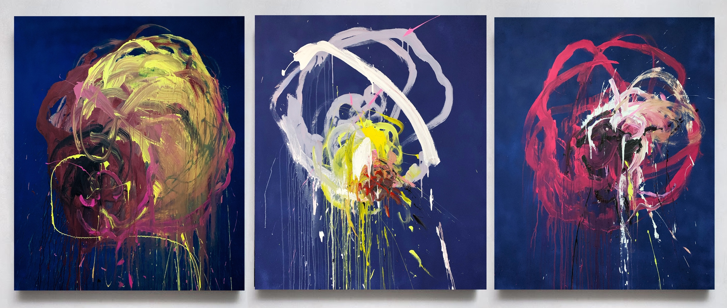 Flowers Triptych artwork by Viktoriia Dmytriv - art listed for sale on Artplode