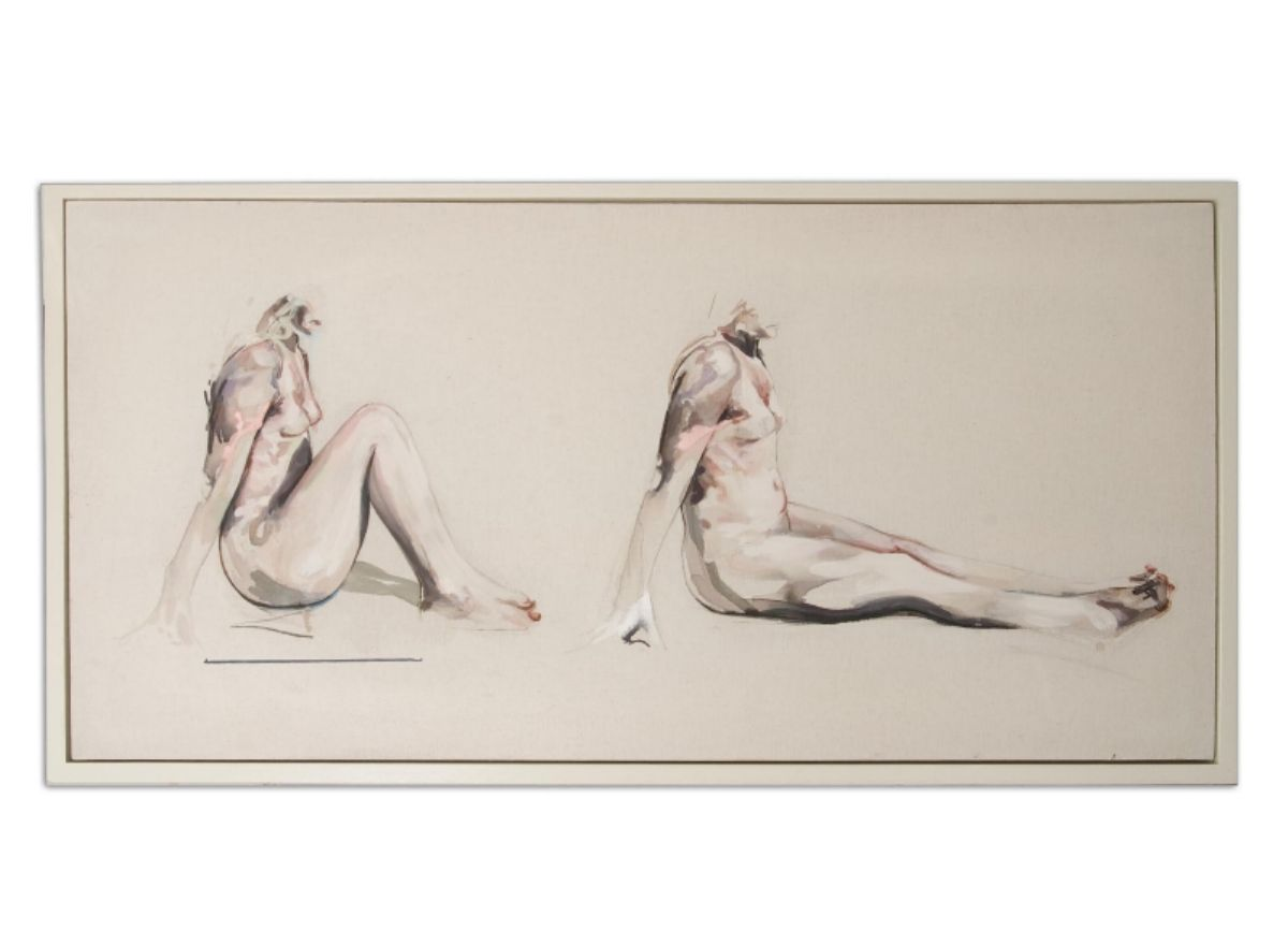 The Waiting Room artwork by Perdita Sinclair - art listed for sale on Artplode