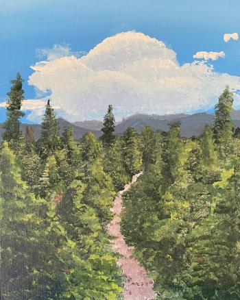 Heading Downhill, art for sale online by Nate Salter