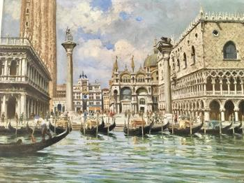 San Marco Frezzeria 1281 Venezia, art for sale online by  Umberto Zini