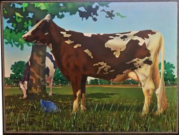 Canadian Cow, art for sale online by David Lloyd