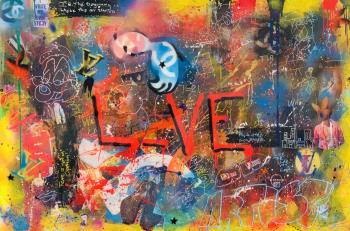 BEAUTIFUL CHAOS Live Love, art for sale online by Anderson Smith