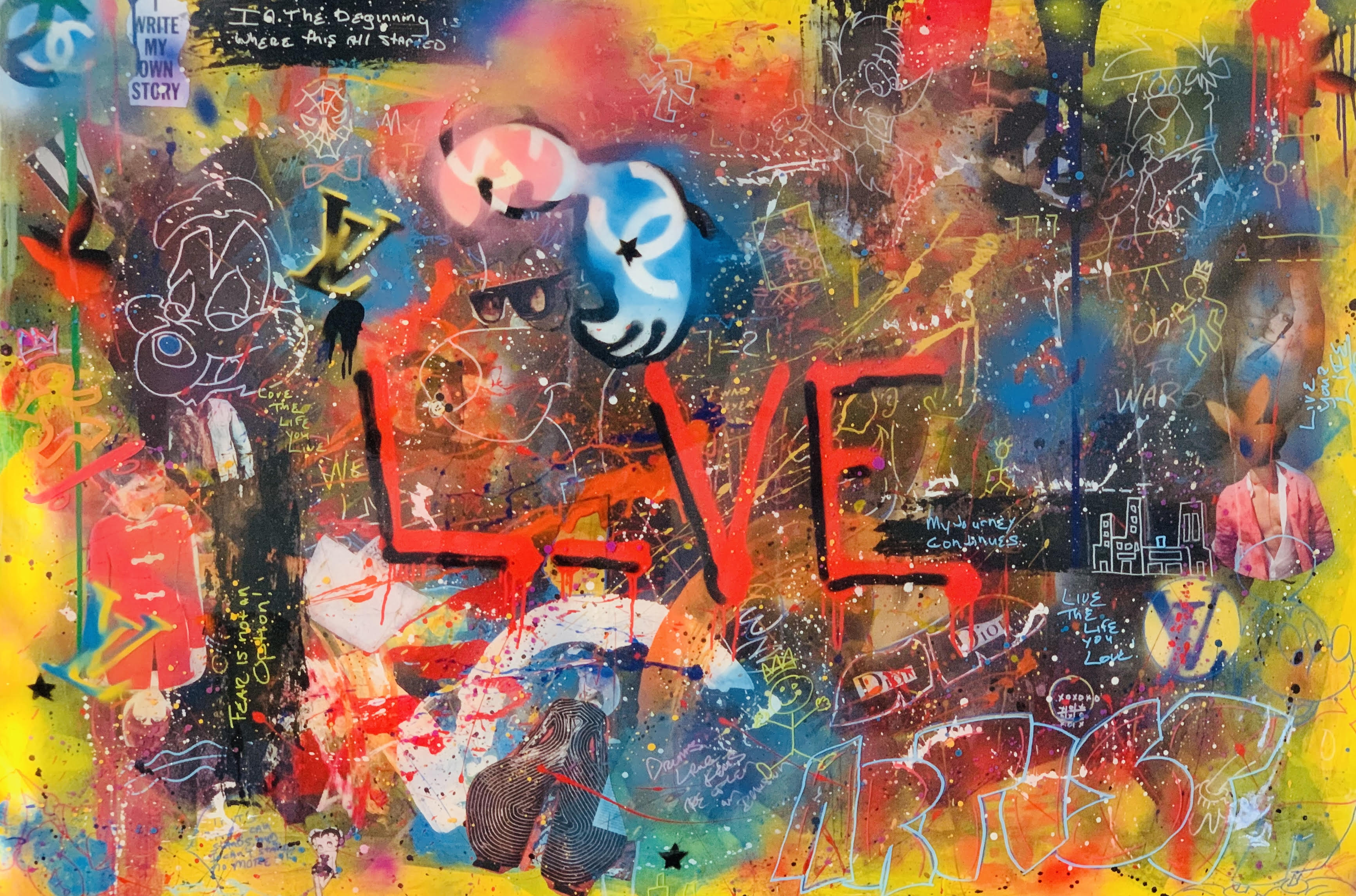 BEAUTIFUL CHAOS Live Love artwork by Anderson Smith - art listed for sale on Artplode