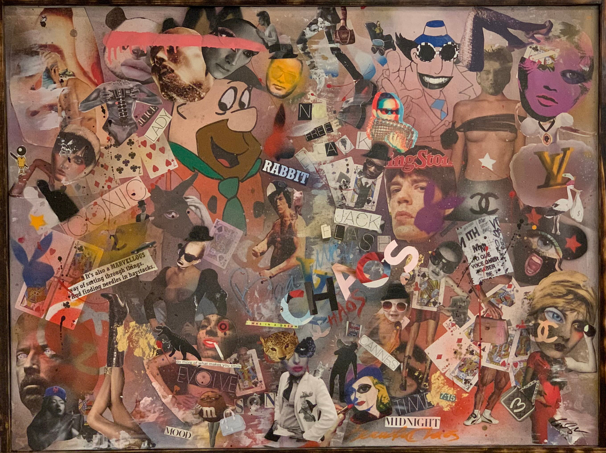 BEAUTIFUL CHAOS Flintstones Paradise artwork by Anderson Smith - art listed for sale on Artplode