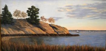 New England Seaside, art for sale online by Claire Conant