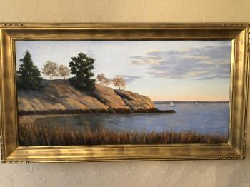 New England Seaside artwork by Claire Conant - art listed for sale on Artplode