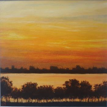SUNSET, art for sale online by KUROYA KATSUKO