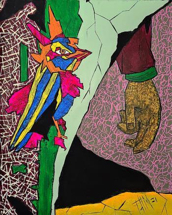 Landgrab, art for sale online by Franck de las Mercedes