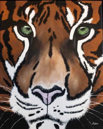 Eye of The Tiger, art for sale online by Jennifer June