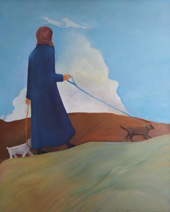 Virginia Woolf, art for sale online by Olga Stamatiou