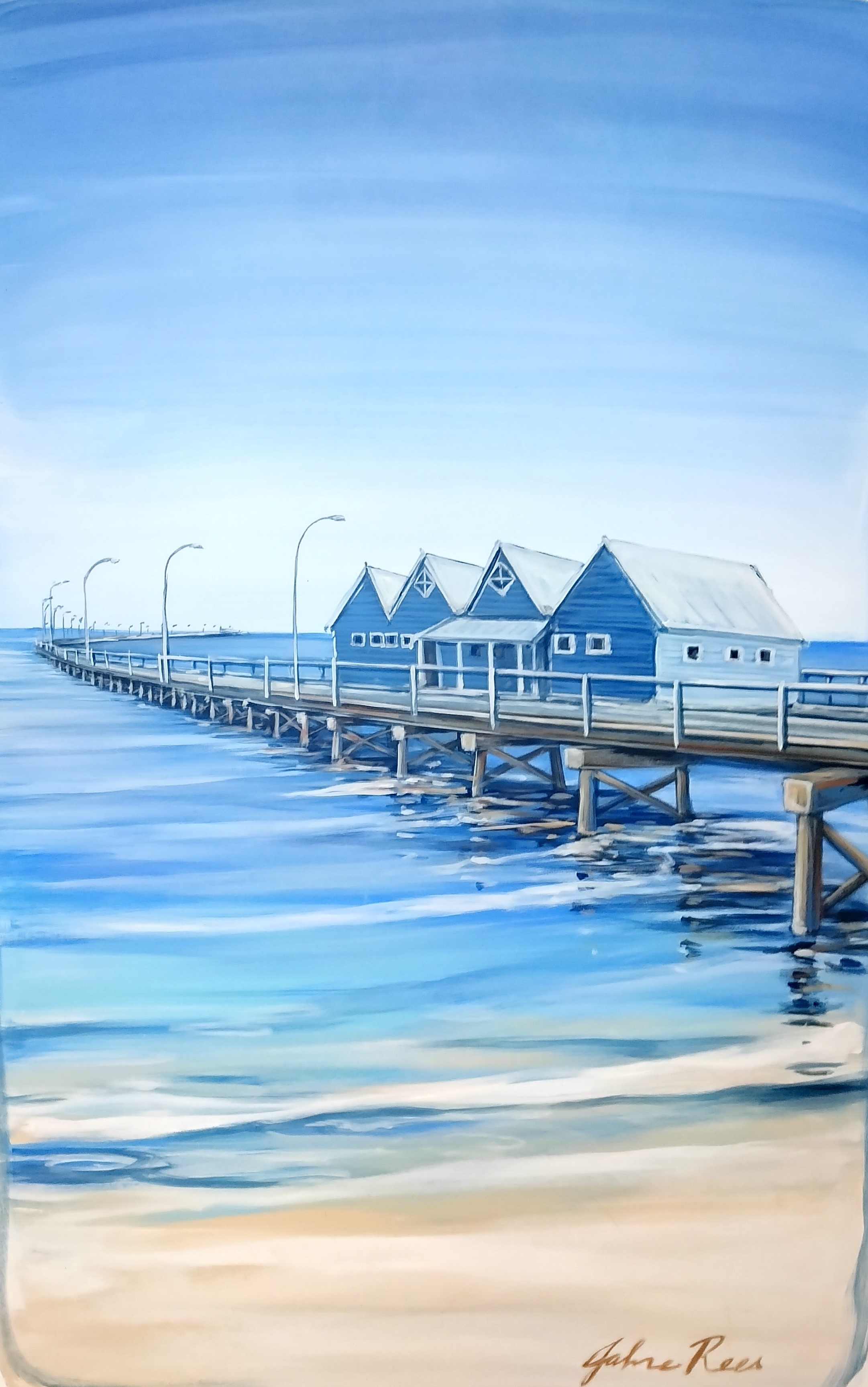 Busselton Jetty  artwork by Jahne Rees - art listed for sale on Artplode