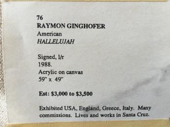 Hallelujah artwork by Raymond Ginghofer - art listed for sale on Artplode