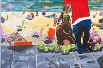 Vermelha Beach , art for sale online by Pete Mantle