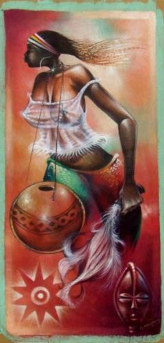 ADDING VALUE TO MY CULTURE, art for sale online by Paul K Amegboe
