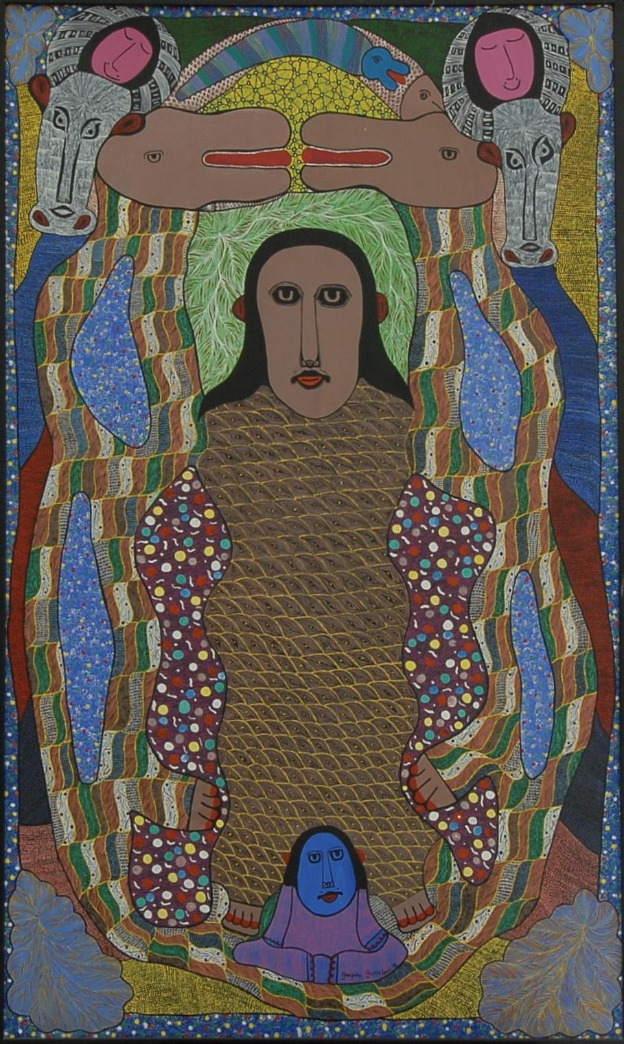 Voodoo Spiritual Loa artwork by  Prospere Pierre Louis - art listed for sale on Artplode