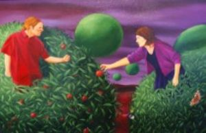 Hands off my Juicy Fruit, art for sale online by Michael Forbes