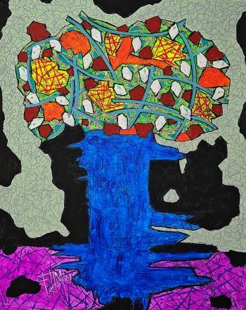 Azul, art for sale online by Franck de las Mercedes