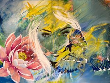 Cyanocitta Cristata, art for sale online by Rachel Aaron