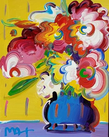 Vase of Flowers Series XV11 Ver V11, art for sale online by Peter Max