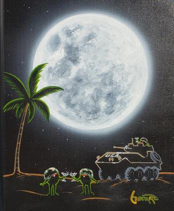 Tank Tini, art for sale online by Michael Godard