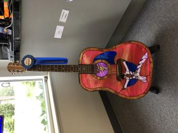 TCB ELVIS GUITAR , art for sale online by chad potter