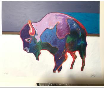Buffalo, art for sale online by John Nieto