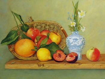 Still life with fruits, art for sale online by Daria Tikhomirova