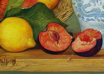 Still life with fruits artwork by Daria Tikhomirova
