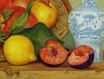 Still life with fruits artwork by Daria Tikhomirova - art listed for sale on Artplode