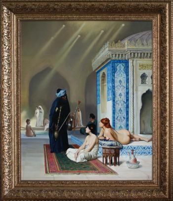 Copy Harem pool by JeanLeon Jerome, art for sale online by Daria Tikhomirova
