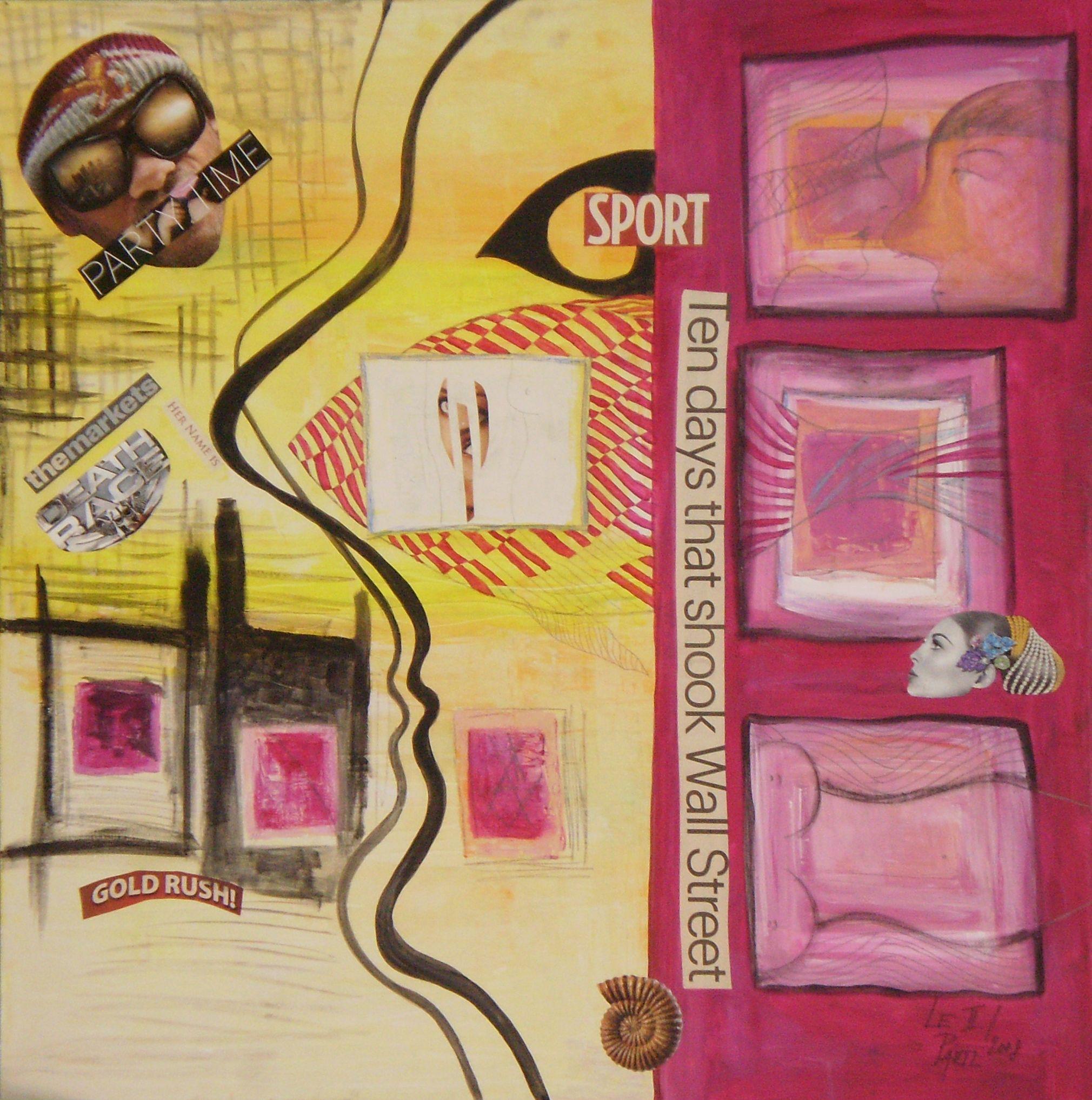 Wall Street artwork by Lenka Le Partl - art listed for sale on Artplode