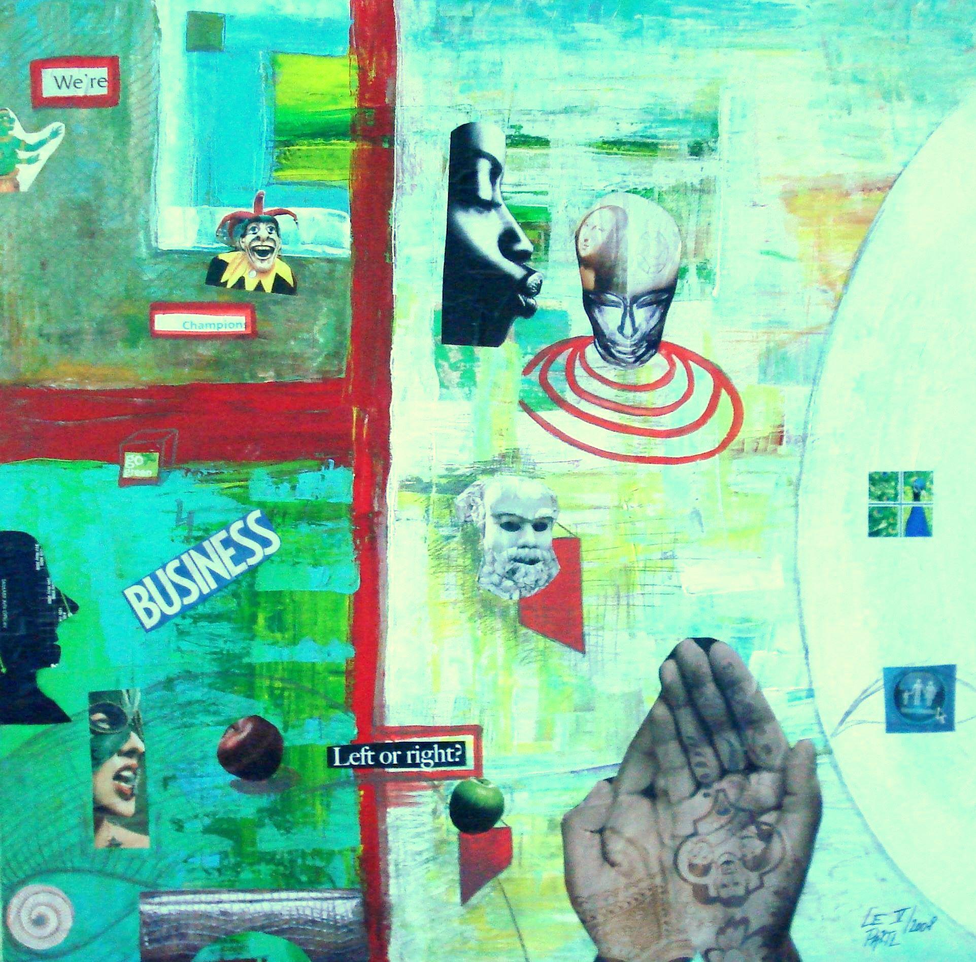 Clowns Rule artwork by Lenka Le Partl - art listed for sale on Artplode