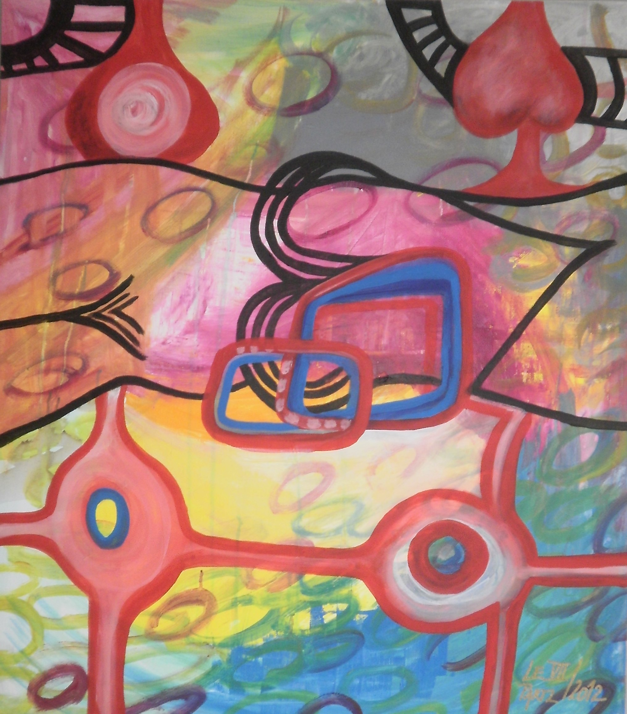 Catch the Fever  artwork by Lenka Le Partl - art listed for sale on Artplode