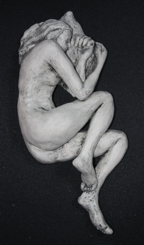 Snooze ceramic sculpture artwork by Rosie Burns - art listed for sale on Artplode