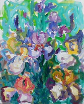 Irises, art for sale online by Susan Marx