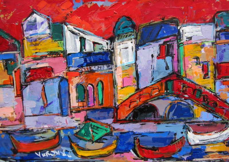 Realto Venezia 01 artwork by len yurovsky - art listed for sale on Artplode