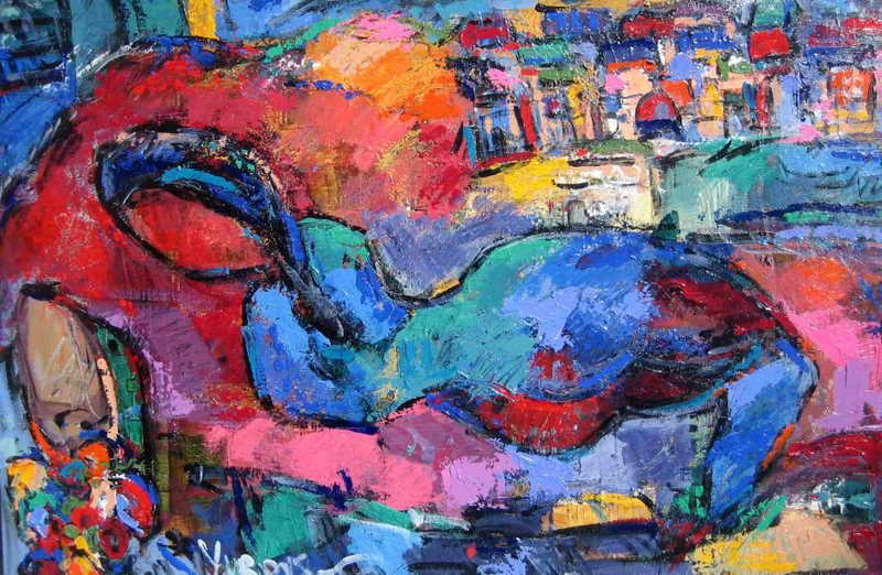 dreaming of Italy artwork by len yurovsky - art listed for sale on Artplode