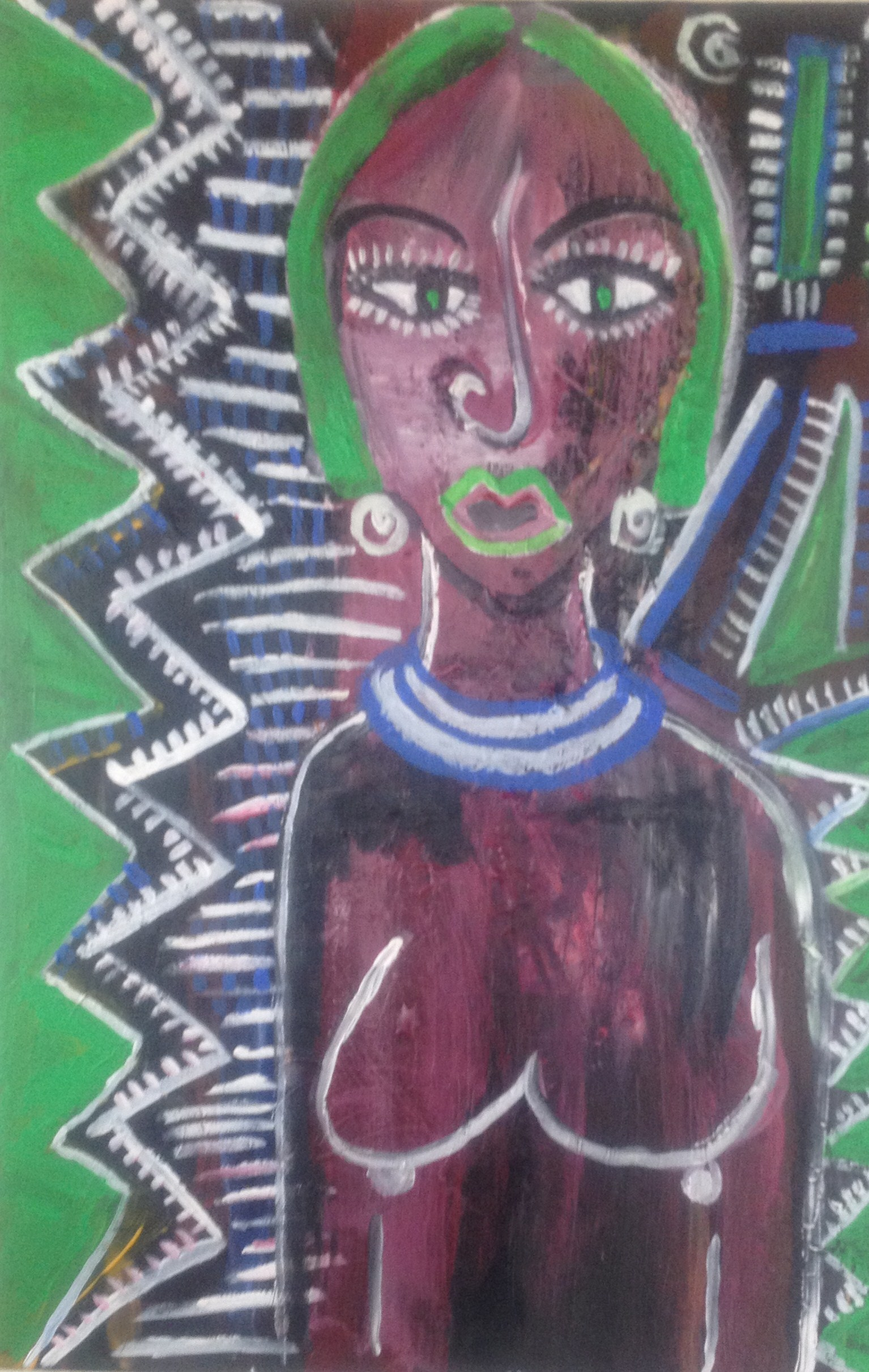 Bush Woman artwork by kara doherty - art listed for sale on Artplode