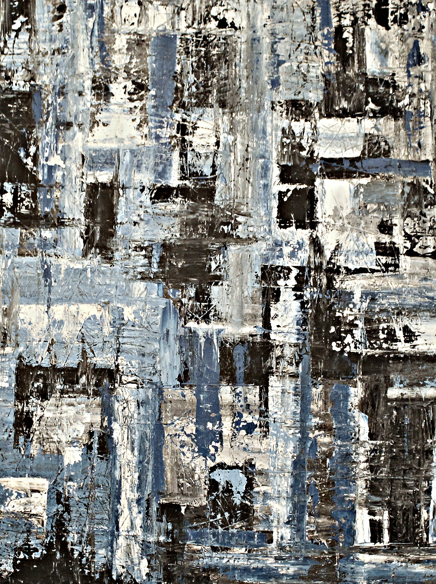 Blue  artwork by Rene Cartolano - art listed for sale on Artplode