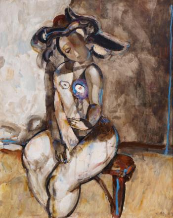 Model in the studio, art for sale online by Anton Antonov