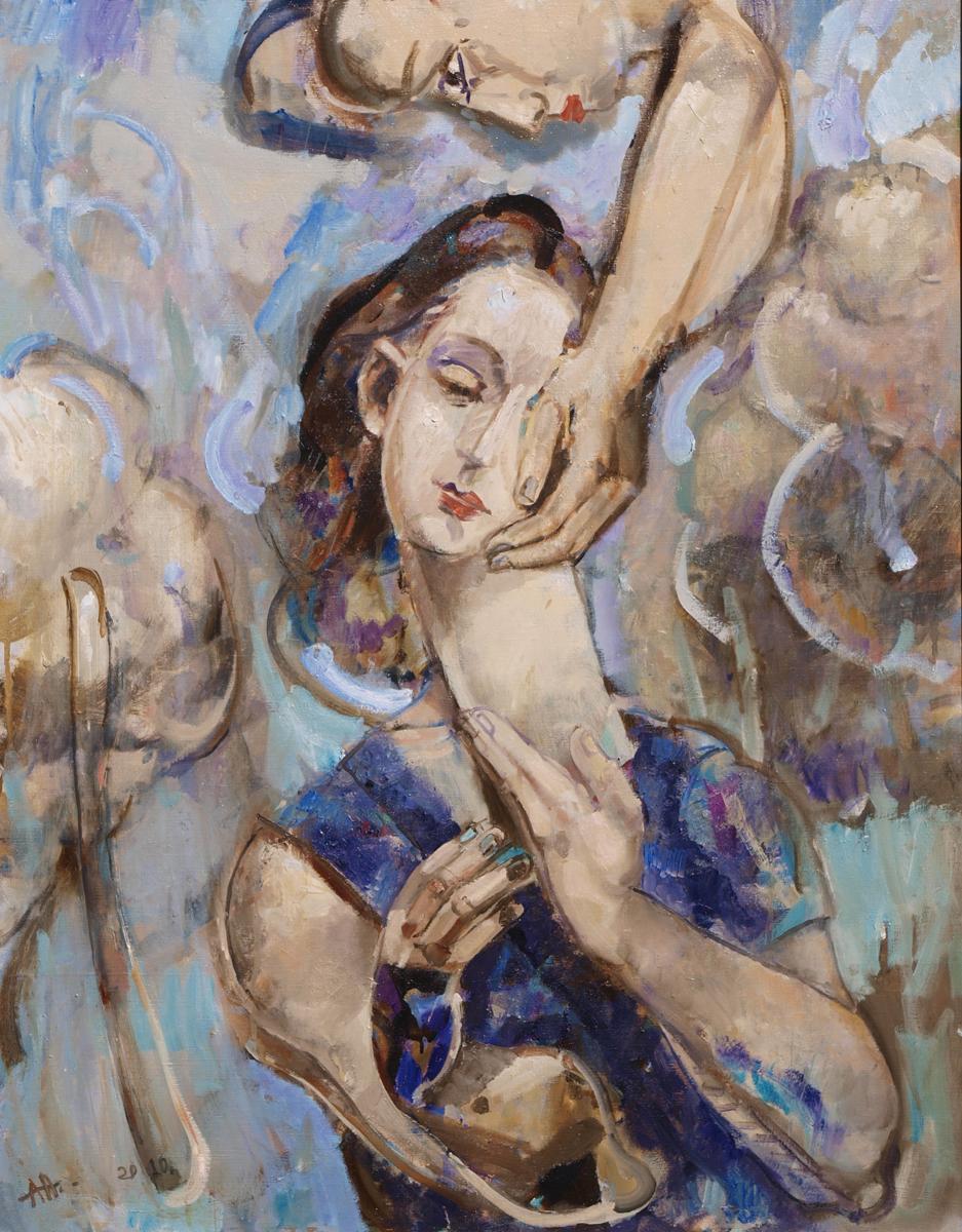 Girl artwork by Anton Antonov - art listed for sale on Artplode
