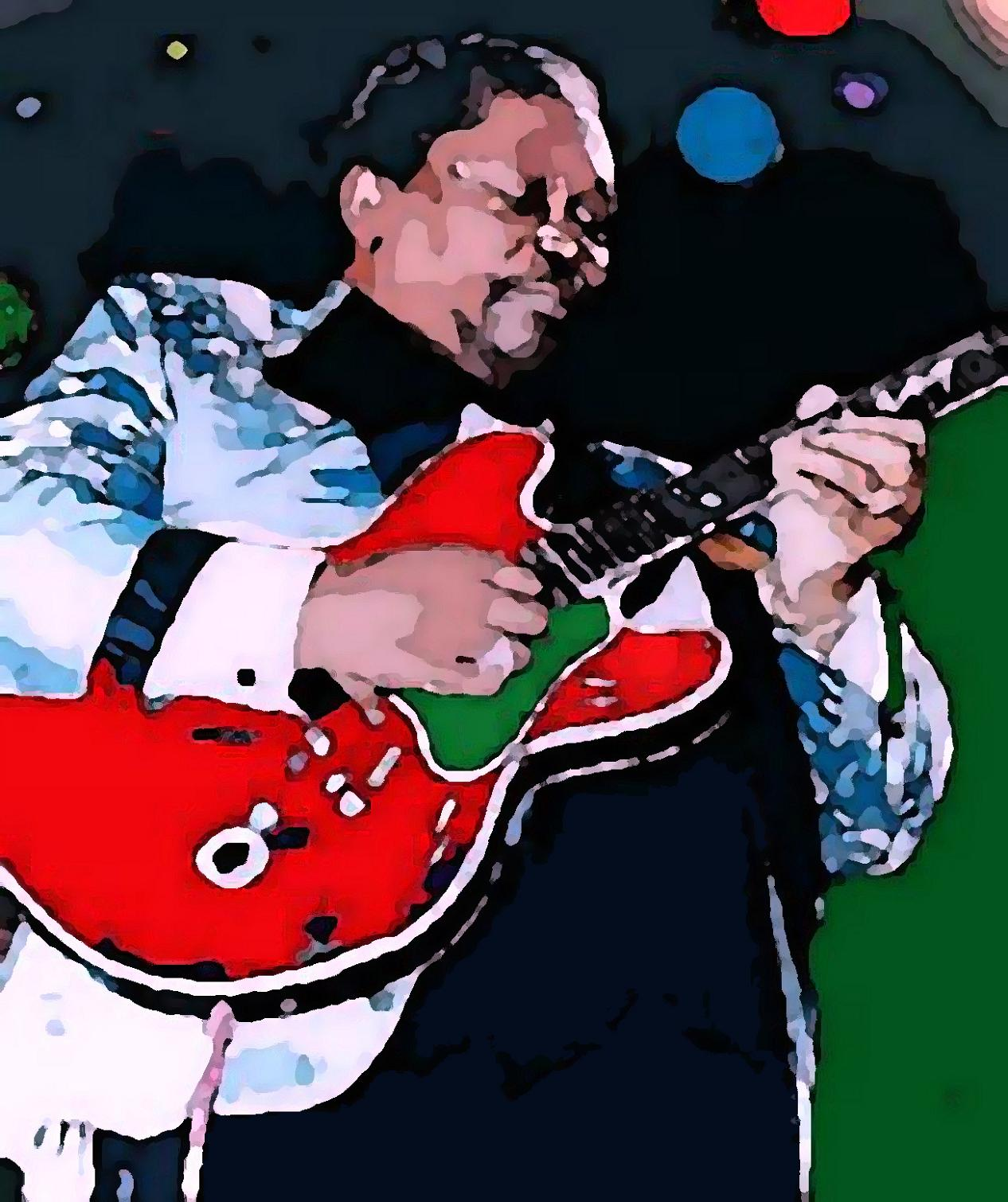 BB King with autograph artwork by Vesa Peltonen - art listed for sale on Artplode