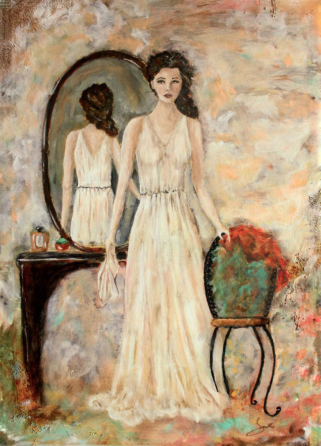 The Woman Within artwork by Janelle Nichol - art listed for sale on Artplode